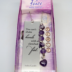 Amethyst Peace quote engraved book-marker (1)